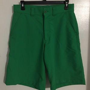 Green size 30 waist under Armour golf shorts